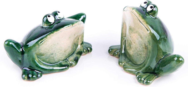 Logbuch-Verlag 2 grenouilles vertes décoratives - Figuras de grenouilles - Décoration Cadeau