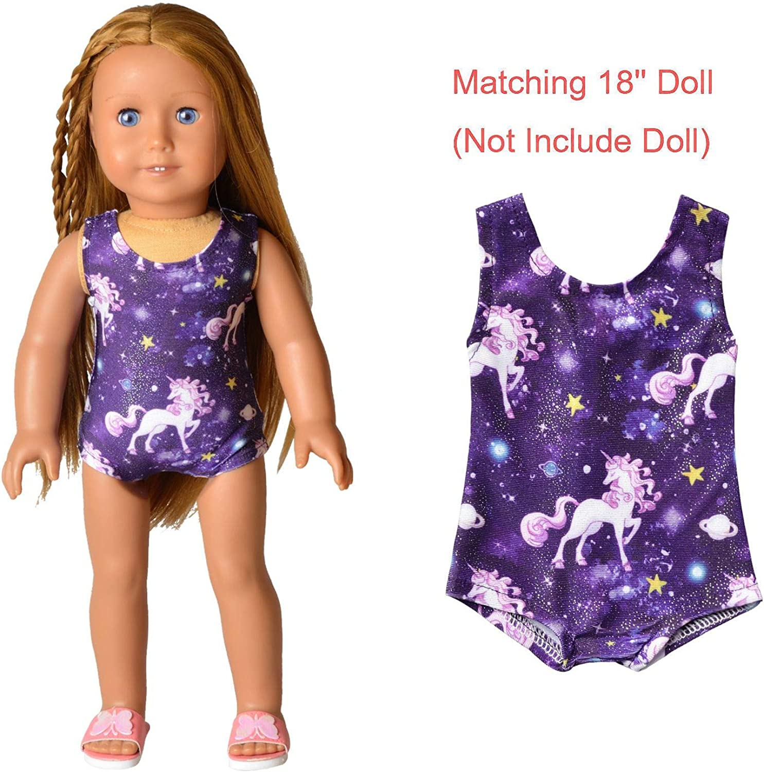 """Gymnastics Dance Leotard Swimsuit Clothing to fit 18/"""" American Girl Dolls Grp 6"""