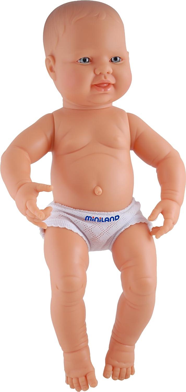 Miniland miniland3100140cm Neugeborene europäischen Boy Puppe Ohne Unterwäsche
