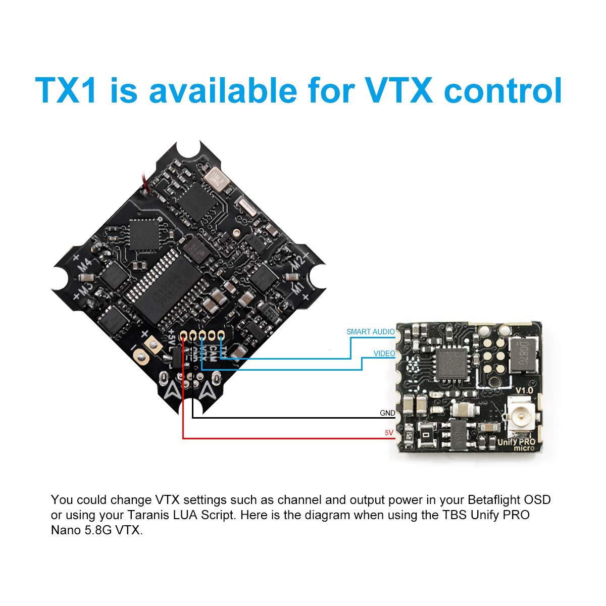 BETAFPV F3 Brushed Flight Controller V2 Upgrade Version Integrated with OSD  Frsky Receiver