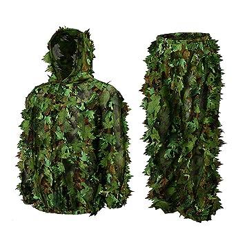 Amazon.com: Roslynwood - Traje de caza de hojas de camuflaje ...