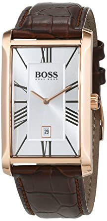Hugo Boss Men'S 1513436 Rose Gold Leather Quartz Watch Price