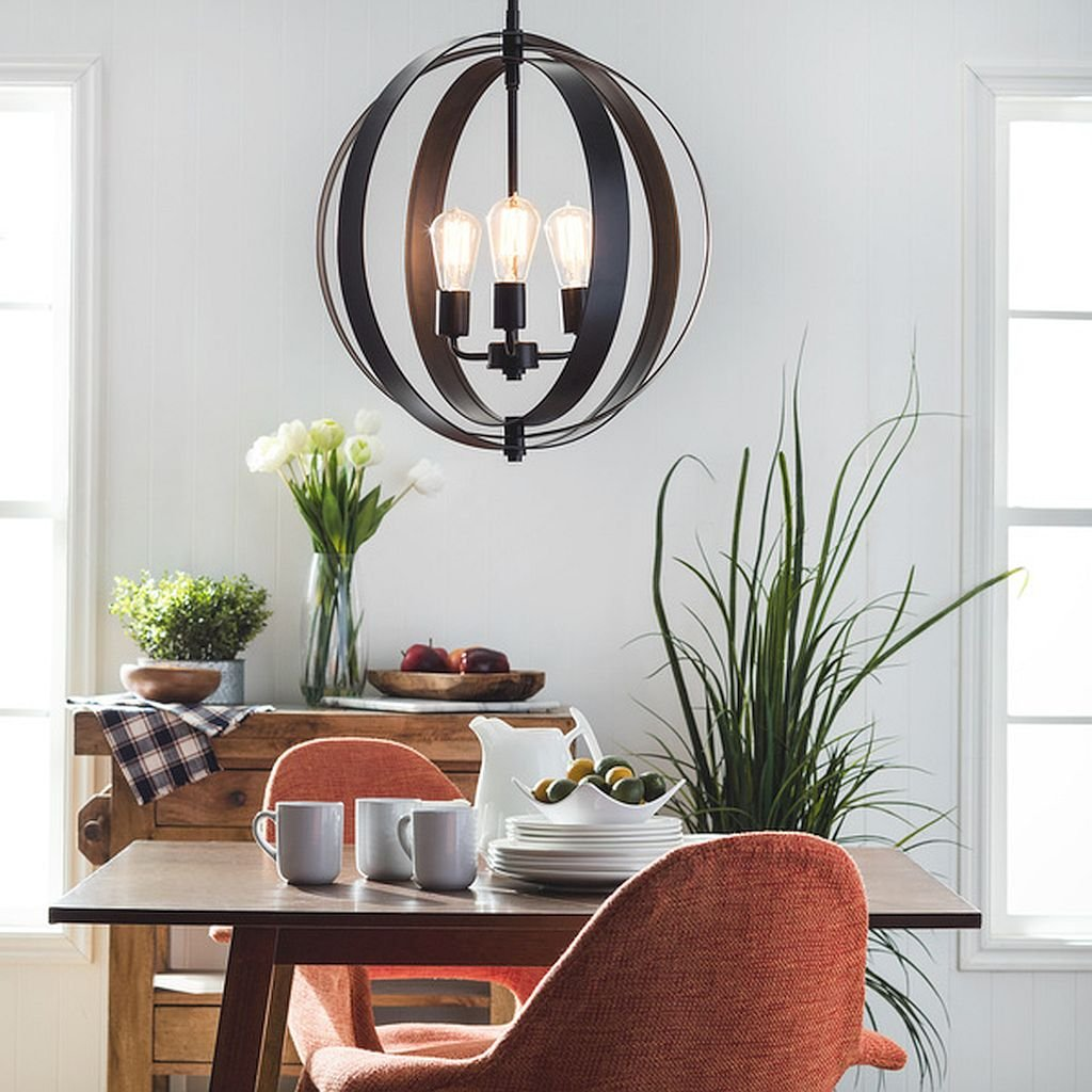 3-light Orb Chandelier, Casual, Contemporary, Modern, Transitional, A Versatile Addition to Any Room in Your Home