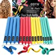 16 Pack of Professional Medium & Small Sizes Foam Flexi Rods Refills for Curly Hair by COTU (R)