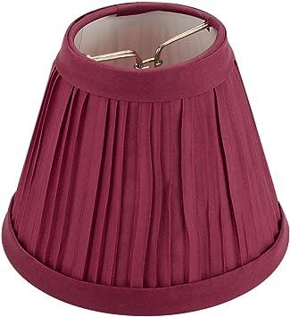 Darice   Pleated Cloth Covered Lamp Shade   Burgundy 2 1/2u0026quot;X4u0026quot