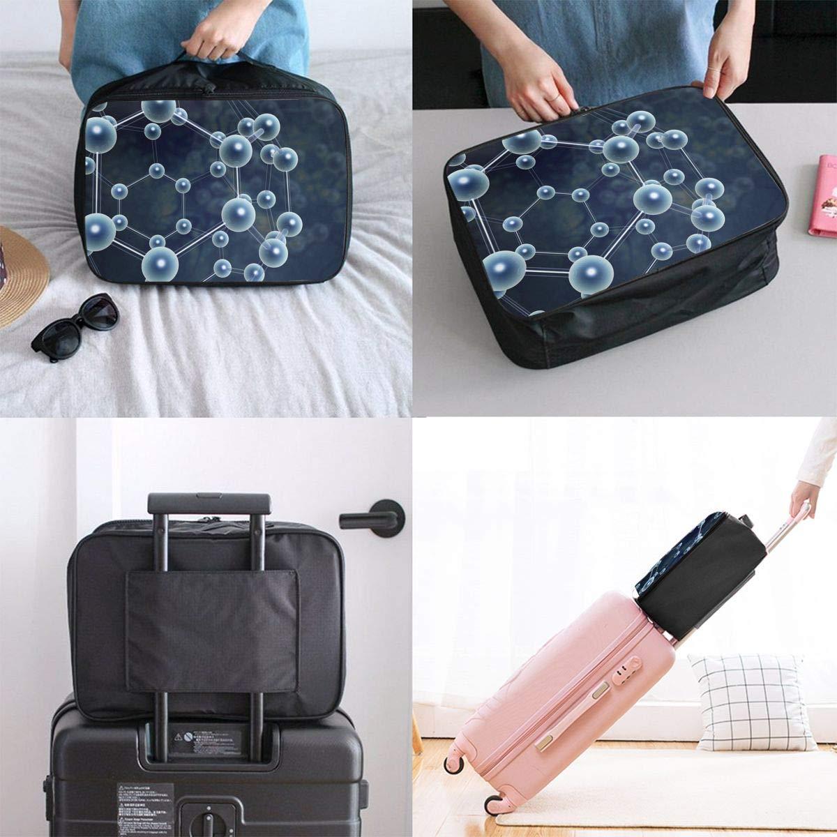 YueLJB Organic Chemistry Lightweight Large Capacity Portable Luggage Bag Travel Duffel Bag Storage Carry Luggage Duffle Tote Bag