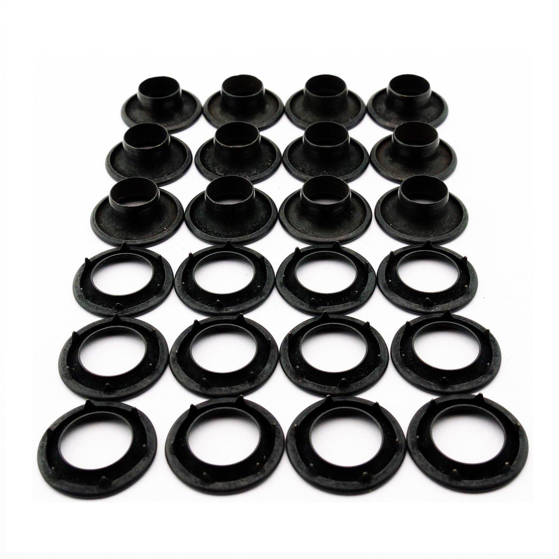 C.S 1//4 Hole C.S Osborne /& Co. Osborne 25 Sets Brass Grommets /& Plain Washers #G1-0