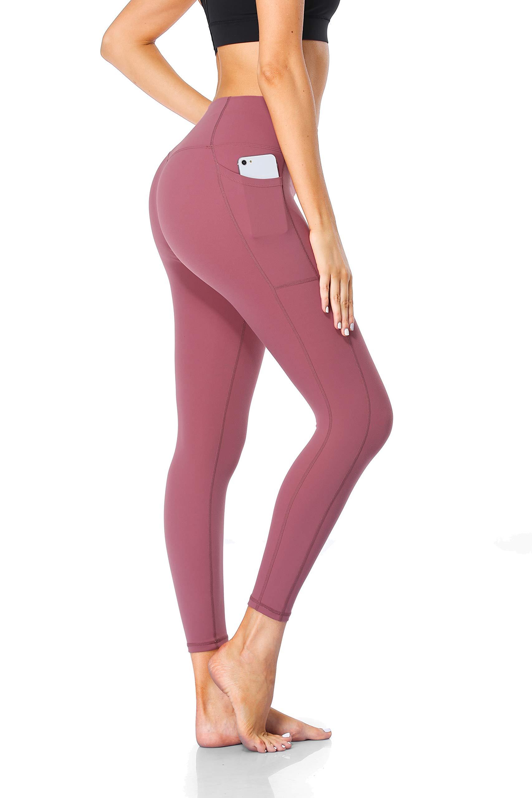 FANDIMU Women Yoga Pants with Pockets Squat Proof High Waist Tummy Control