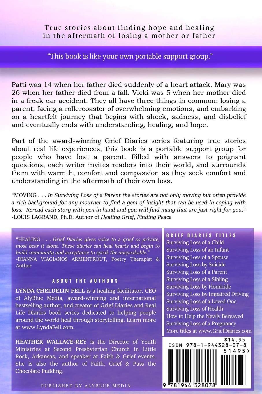 amazon com grief diaries loss of a parent 9781944328078 lynda