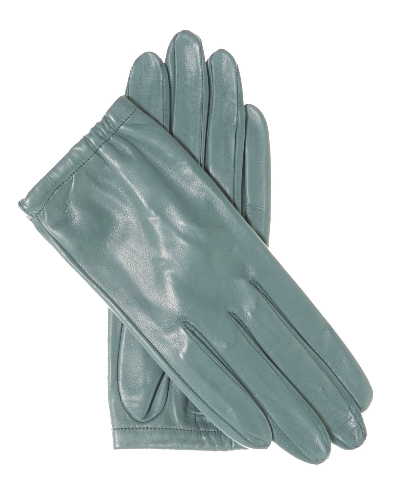 Fratelli Orsini Women's Unlined Italian Fashion Leather Gloves with Short Wrist Size 8 1/2 Color Sage