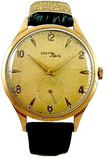 Reloj hombre Vintage Oro 18 Kt Zenith mecánico ORIGINAL garantía revisionato