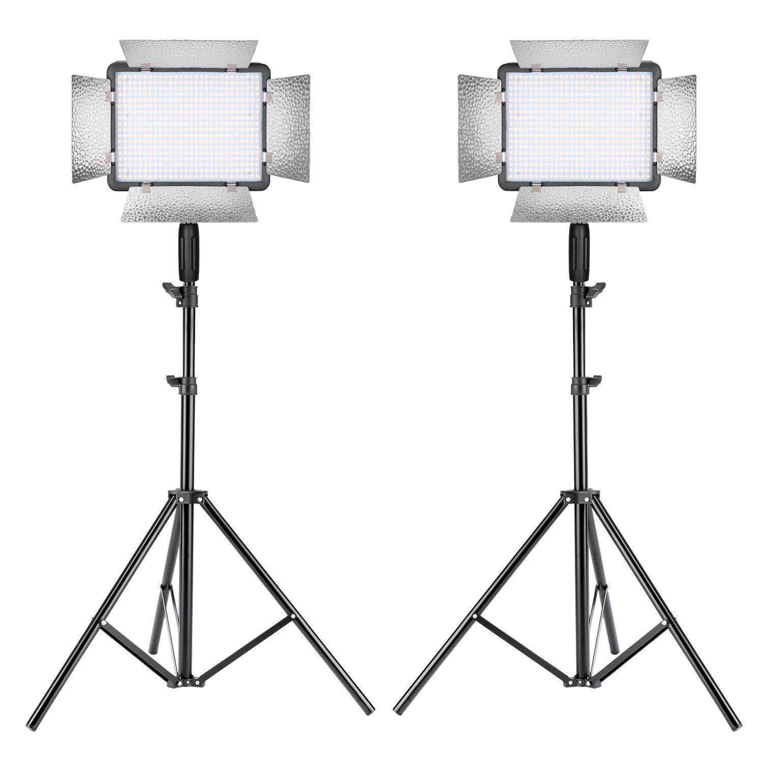 Neewer 2 Packs Photography Dimmable 500 LED Video Light with Remote Control and 8.5 feet/260 centimeters Light Stand for Canon, Nikon and Other Digital DSLR Cameras for Product Portrait Video Shooting