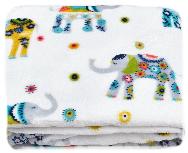 すべてシーズンカラフルMandala Elephant Plush Throw Blanket VeryソフトOversize 60-by-70-inch by Storehouse B01HSBOUW2