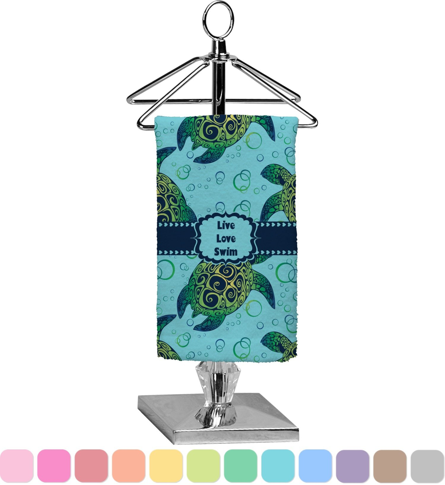 RNK Shops Sea Turtles Finger Tip Towel - Full Print (Personalized)