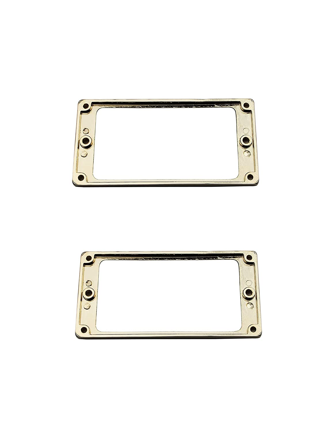 Metal Pickups Cover Frame Flat-Top Set Replacement Electric Guitar or Bass Guyker 2Pcs Pickup Mounting Rings for Humbucker Golden