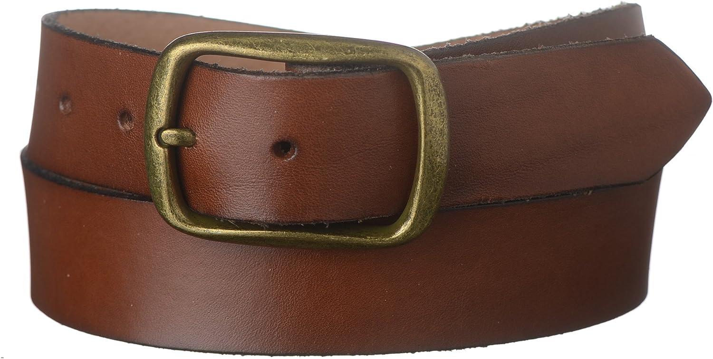 Strait City Trading Co Mens 1-1//2 Full Grain Leather Belt /& Center Bar Buckle