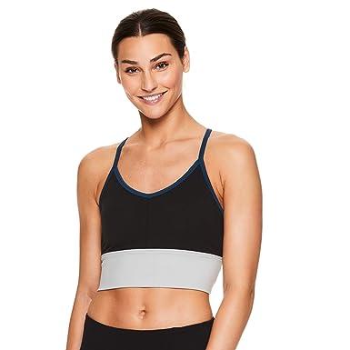99c1c78594 Gaiam Women s Strappy Wireless Sports Bra - Medium Impact Racerback Workout    Yoga Bralette - Ashleigh