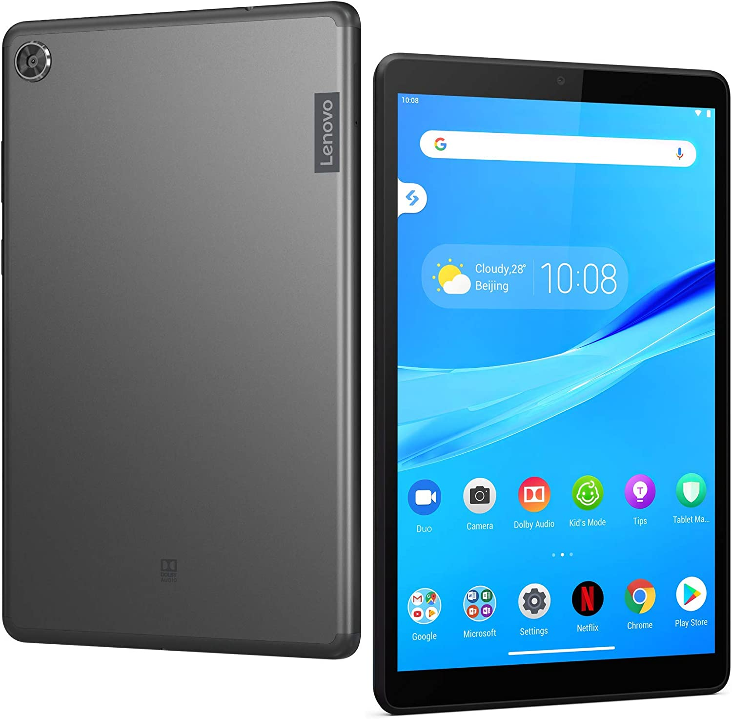 "Lenovo Tab M8 Tablet, 8"" HD Android Tablet, Quad-Core Processor, 2GHz, 32GB Storage, Full Metal Cover, Long Battery Life, Android 9 Pie, ZA5G0060US, Slate Black (Renewed)"