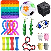 MMPY Sensory Fidget Toys Set Squeeze Special Toys 23pcsPack with Rainbow Pop Toy Assortment Simple Dimple for Birthday…