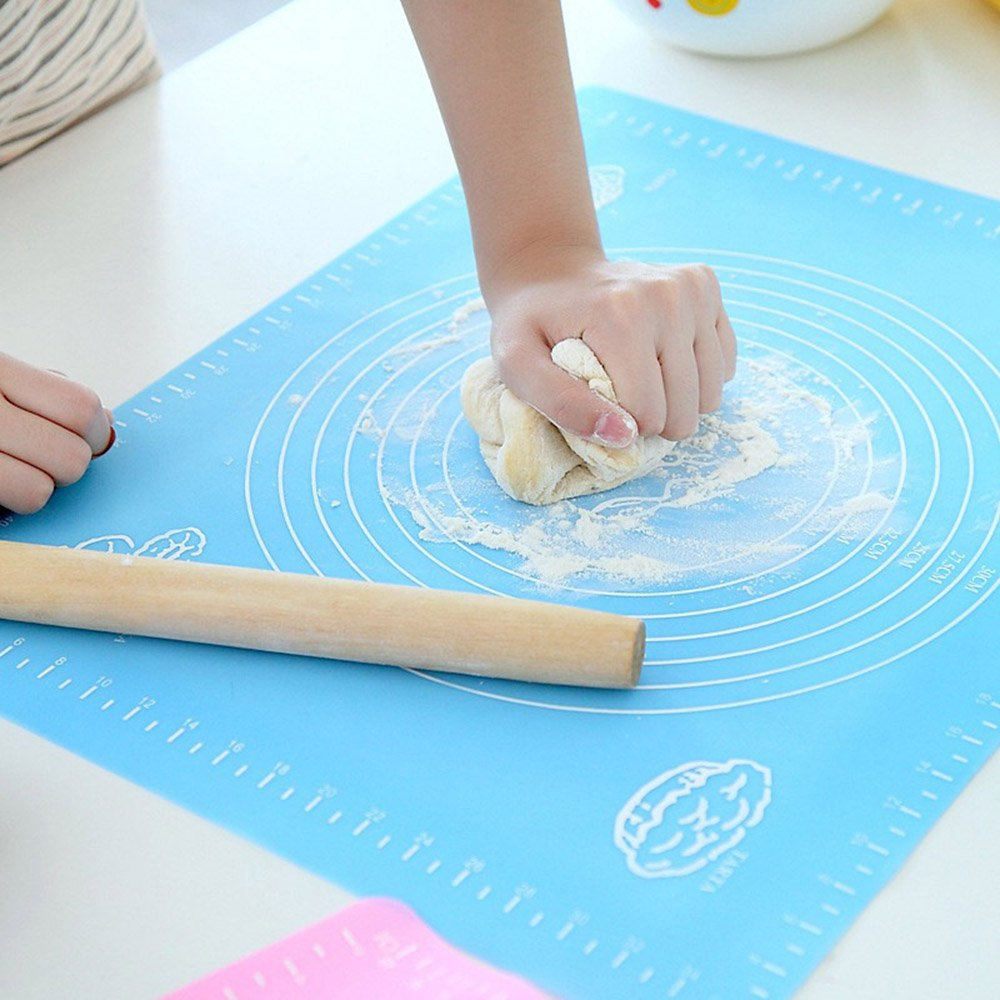 Silicone Baking Mat for Pastry Rolling with Measurements, Pastry Mat No Stick Reusable Liner Heat Resistance Table Placemat for Housewife, Cooking Enthusiasts Kanical