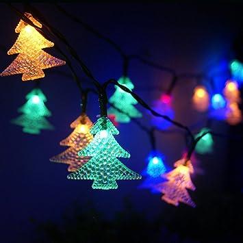 Weihnachtsbeleuchtung Außen Tannenbaum.Led Solar Lichterkette Garten Außen Wasserdicht Weihnachtsbeleuchtung Für Party Weihnachten Outdoor Fest Deko 30er Led 6 5 Meter Tannenbaum