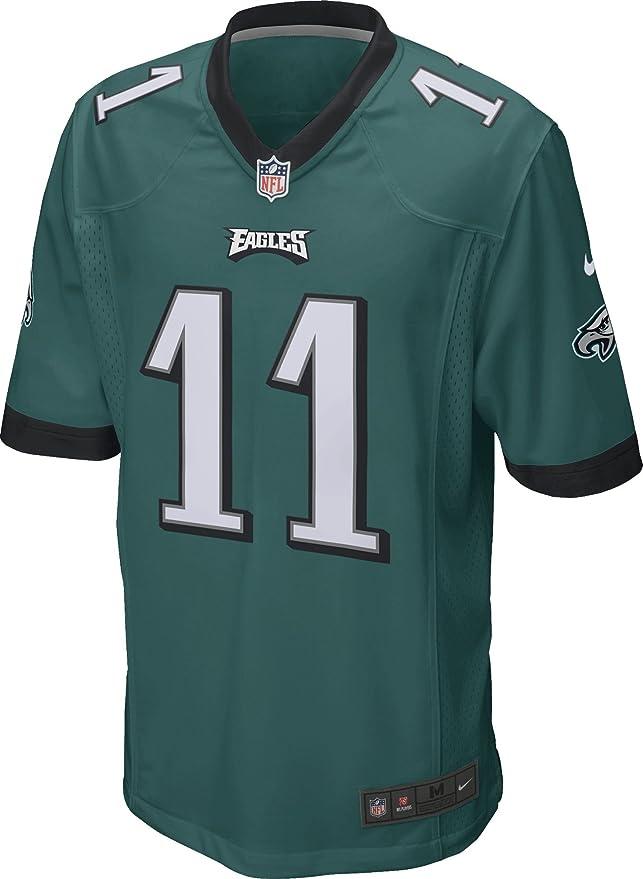 74037fc4b5f902 Amazon.com  Nike Men s NFL Philadelphia Eagles Wentz Game Jersey  Clothing