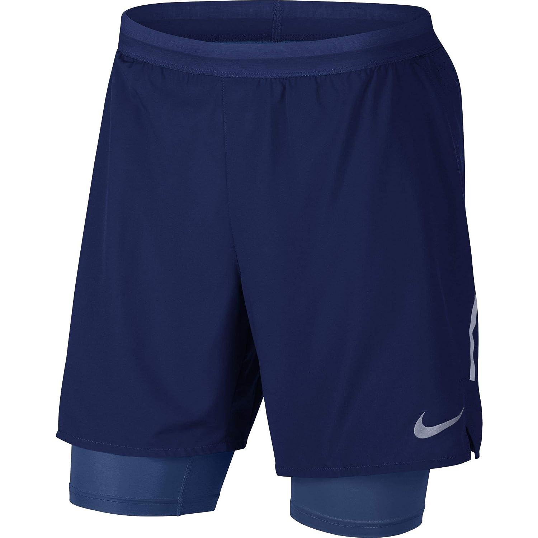 TALLA L. Nike M NK FLX Stride 2IN1 Short 7IN - Pantalón Corto, Hombre, (Blue Void/Blue Void)