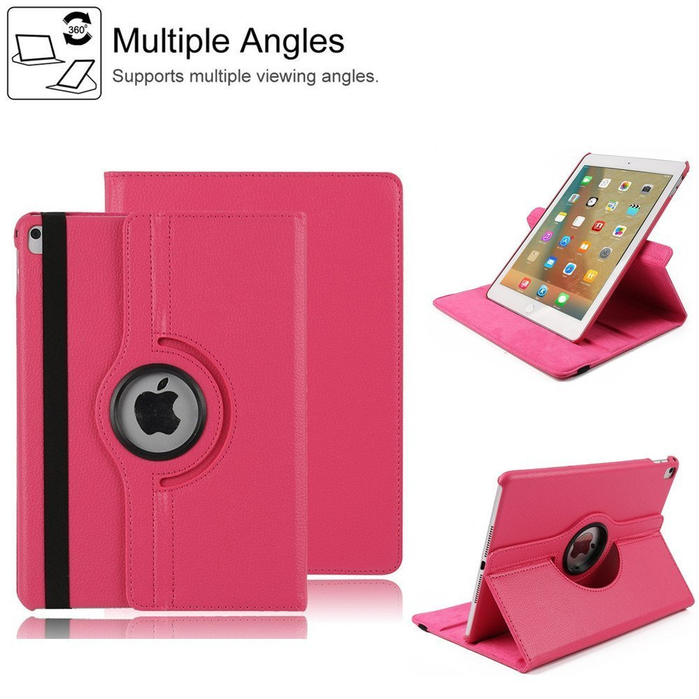 Cover for iPad Pro 12.9 inch,HuLorry Clear Smart Lightweight Cover Slim Sleeve 360 Degree Rotating Case Protection Rugged Protective Popular Cover for iPad Pro 12.9 inch Tablet