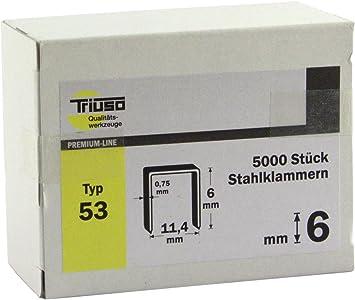 Triuso Tackerklammern f/ür Handtacker Klammern Klammer f/ür Tacker Klammern L/änge 6 mm G-Typ 11 VPE 1000 Stck