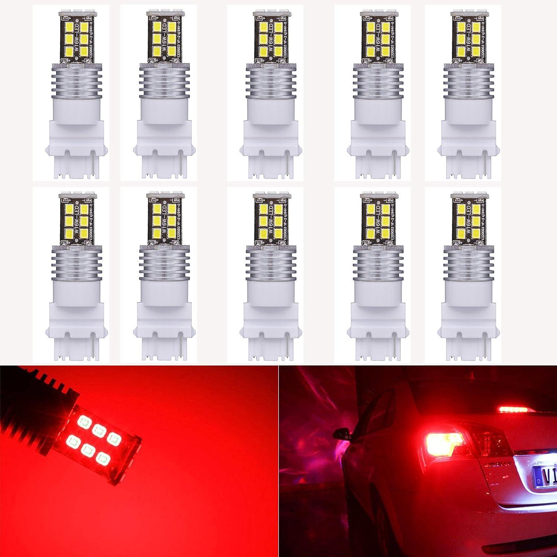 KATUR 2pcs Alta Potencia 800/l/úmenes Super Brillante 3156/3156/un 3456/LED 15SMD 2835/Backup Reverse Tail Luces de Freno estacionamiento LED Blubs DC 12/V Blanco