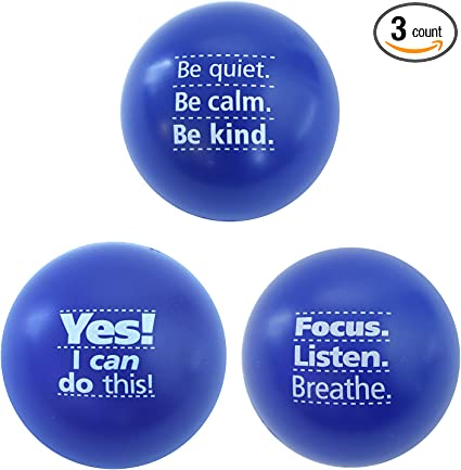 Stress Relief Toys for Kids and Adults Teacher Peach Star Stress Ball 3 Pack
