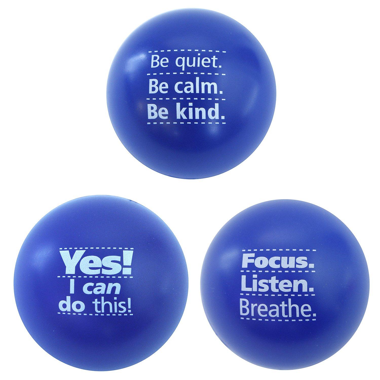 amazon com motivational stress balls 3 pack teacher peach