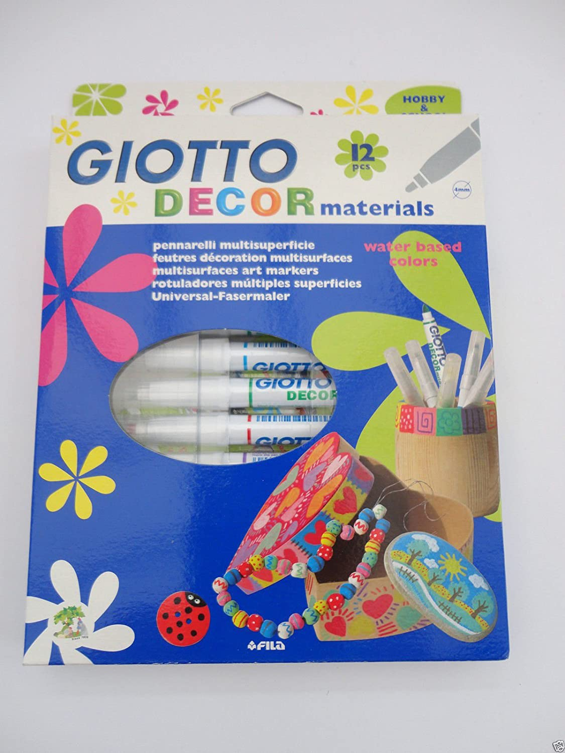 12 Multisurfaces Paint Markers GIOTTO DECOR MATERIALS Fila