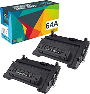 Do it Wiser Compatible Toner Cartridge Replacement for HP 64A CC364A for HP Laserjet P4014 P4014N P4015N P4015 P4015X P4015DN P4515 P4515N P4515X (Black, 2-Pack)
