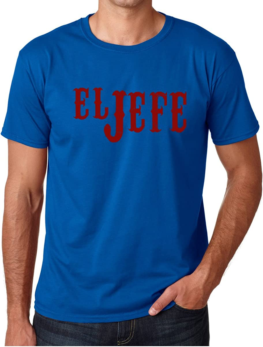 CBTWear El Jefe - The Boss in Spanish Funny Mexican Latino Gangsta Humor Chicano Fathers Day Men's T-Shirt