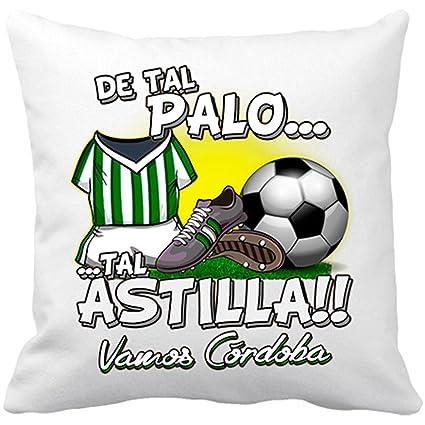 Cojín con relleno De tal palo tal astilla Córdoba fútbol - Blanco, 35 x 35