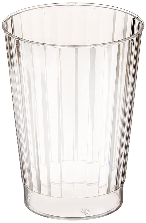 Fineline setting - Elegant Hard Plastic Tumblers - Crystal-Look Fluted Design - 12oz (340ml) - Clear - 20 Pieces Fine Line Settings Inc. RET-2412