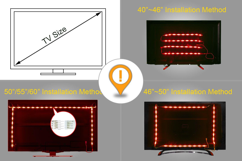 Led tv retroilluminazione m ft usb led posteriore di