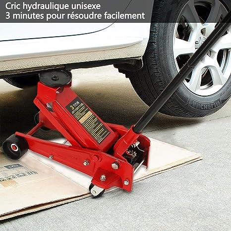 Gato hidráulico de 3 toneladas de MultiWare, para el suelo, con ruedas: Amazon.es: Coche y moto