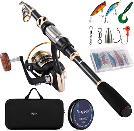 Portable Fishing Rod Travel Carbon Fiber Telescope Rock Spinning Fishing Tackles