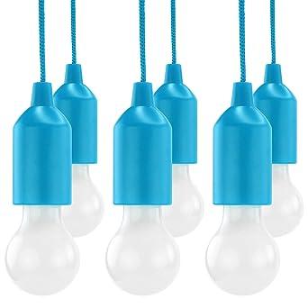 Hycell Pull Light 6er Set Mit Zugschalter Inkl Aaa Batterien Tragbare Led Lampe Warmweiß Mobile Leuchte Ideal Für Garten Schuppen Zelt Camping