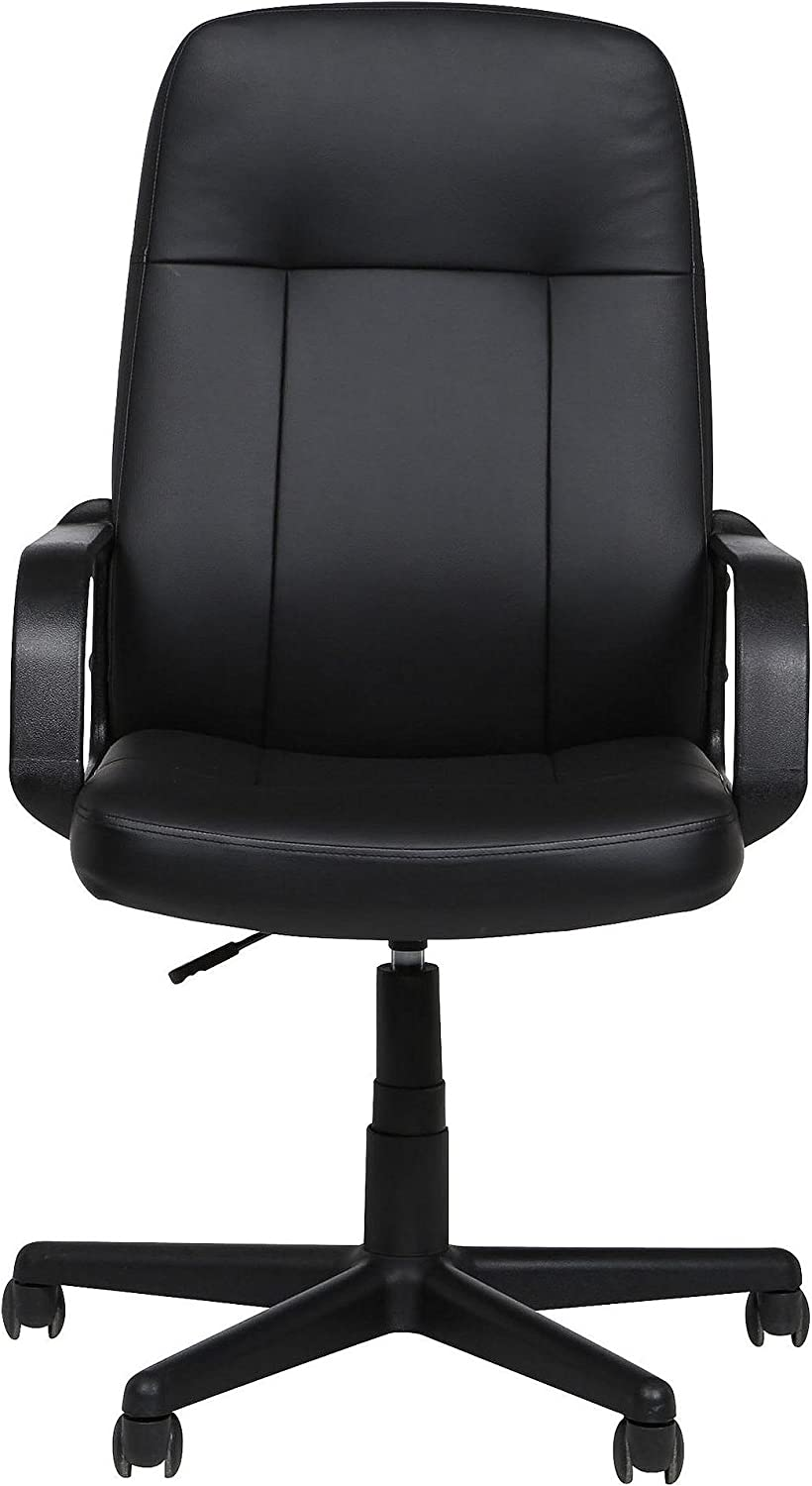 Tesco Evan Leather Effect Swivel Office Chair - Black: Amazon.co