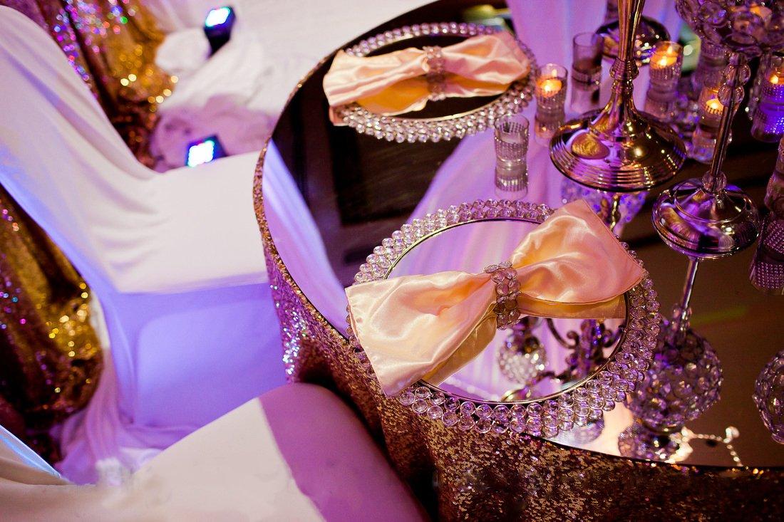 Feyarl Crystal Mirrored Jewelry Tray Cosmetic Organizer Vanity Tray Decorative Tray (Silver) by Feyarl (Image #7)