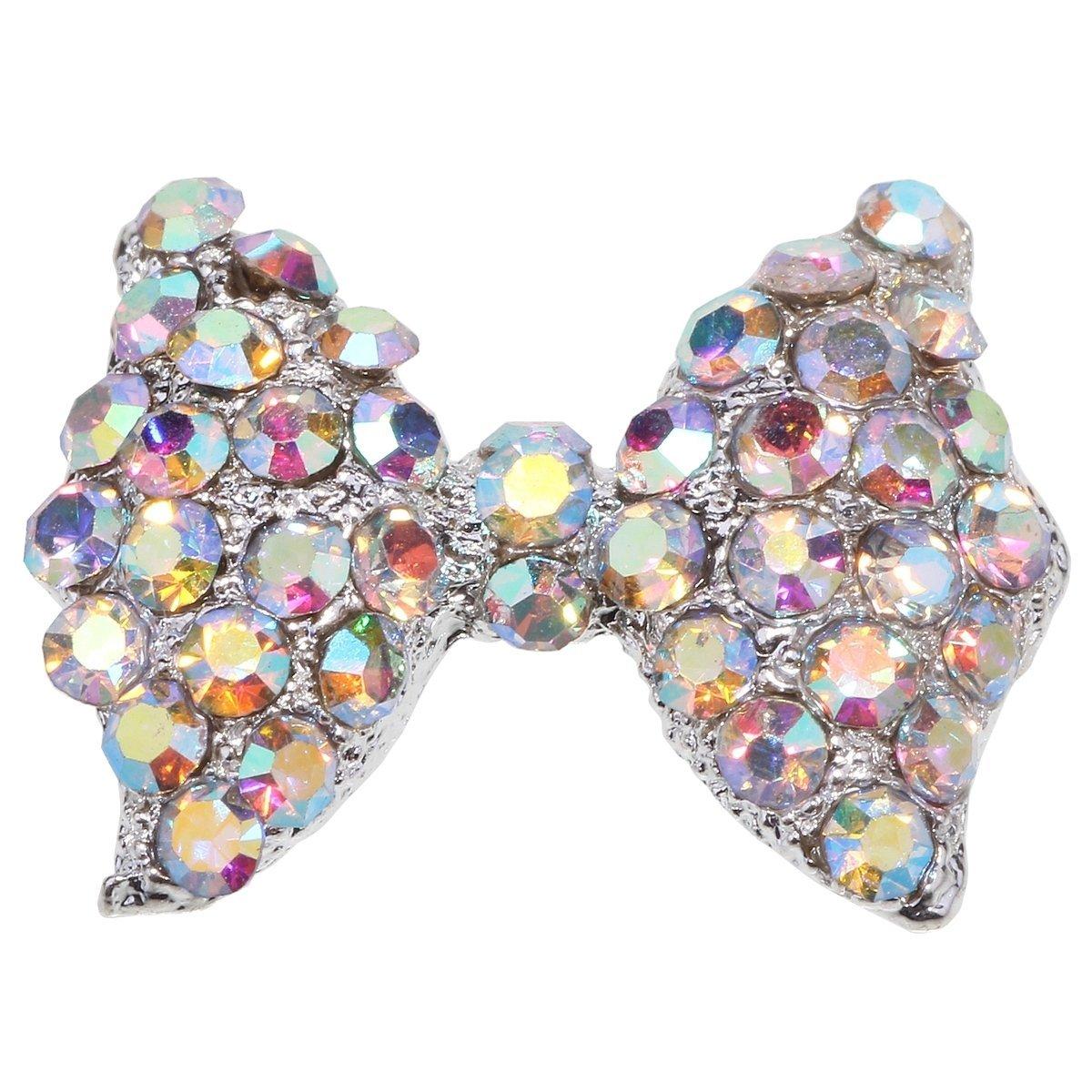 BeautyFly 10 Pieces DIY 3D Alloy AB Rhinestones Bow Tie Nail Art Tips Glitters Decorations Juren E-commerce