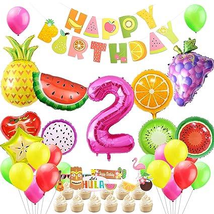 Amazon.com: Twotti - Decoración de fiesta frutal para ...