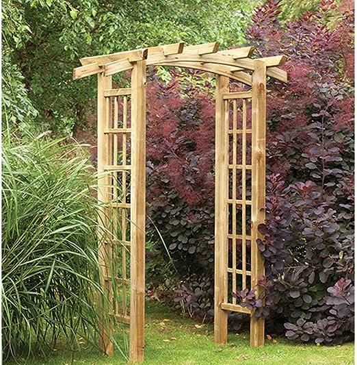 Ryeford lazo Top Pergola estilo madera jardín arco Trellis: Amazon.es: Jardín
