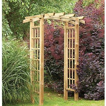 Ryeford Nœud Dessus Pergola Bois Style Treillis Arche De