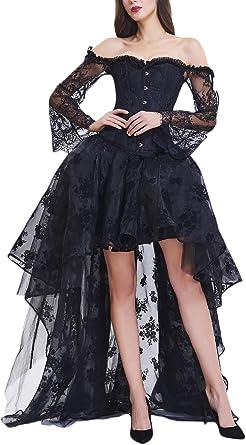 Mujer Corset Steampunk Faldas 2 Piezas Sets Tallas Grandes ...