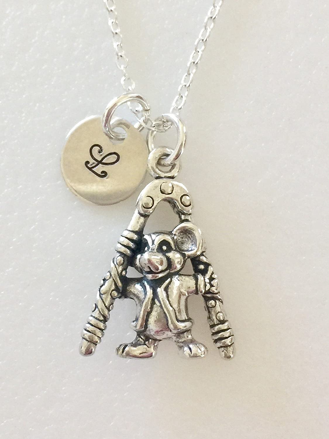 Tiny Sterling Silver Mouse Charm