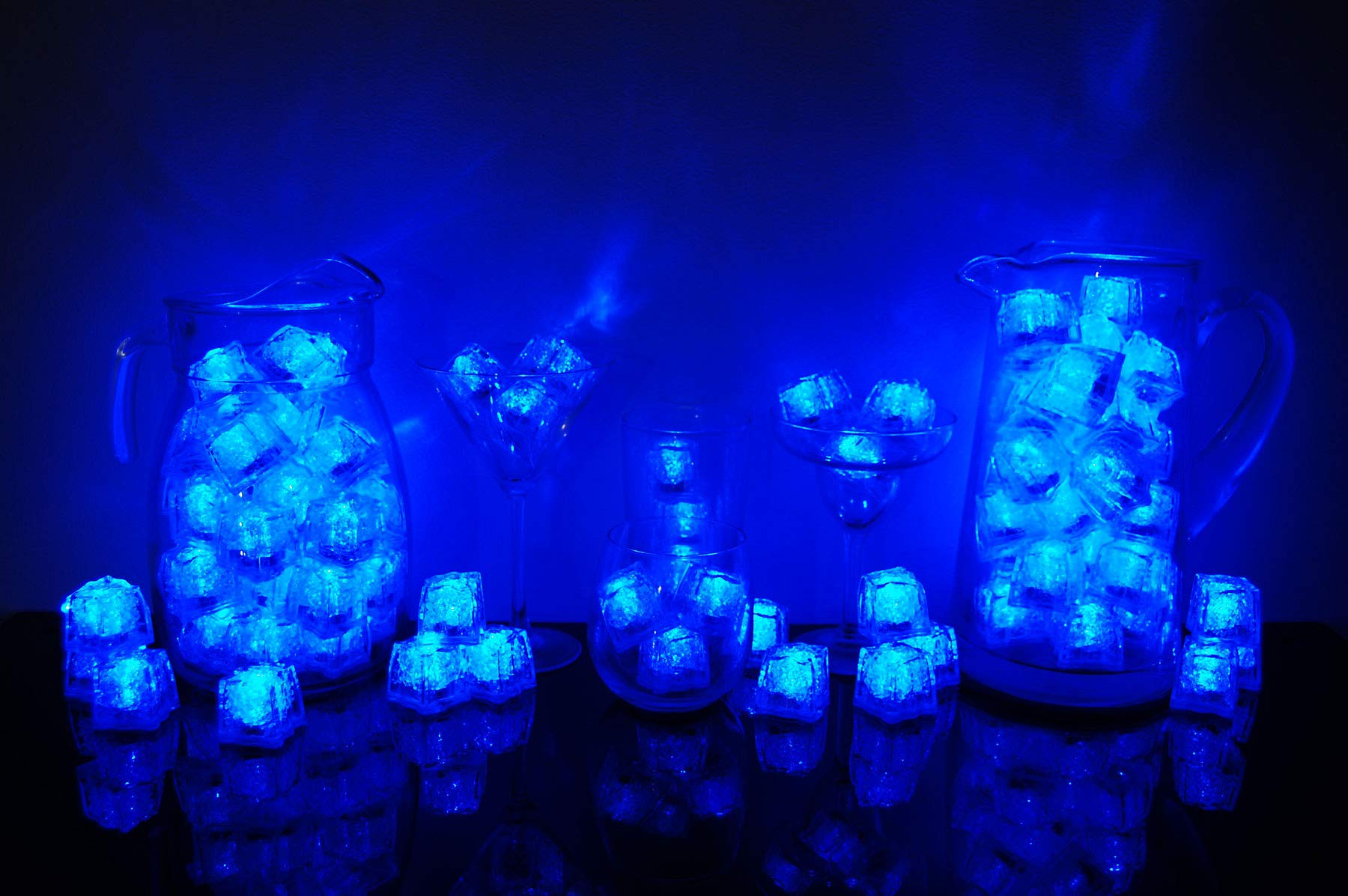 Litecubes Brand 3 Mode Blue Light up LED Ice Cubes (144)